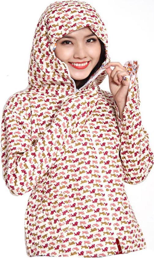 Áo chống nắng vải thô 2 lớp dáng ngắn nữ