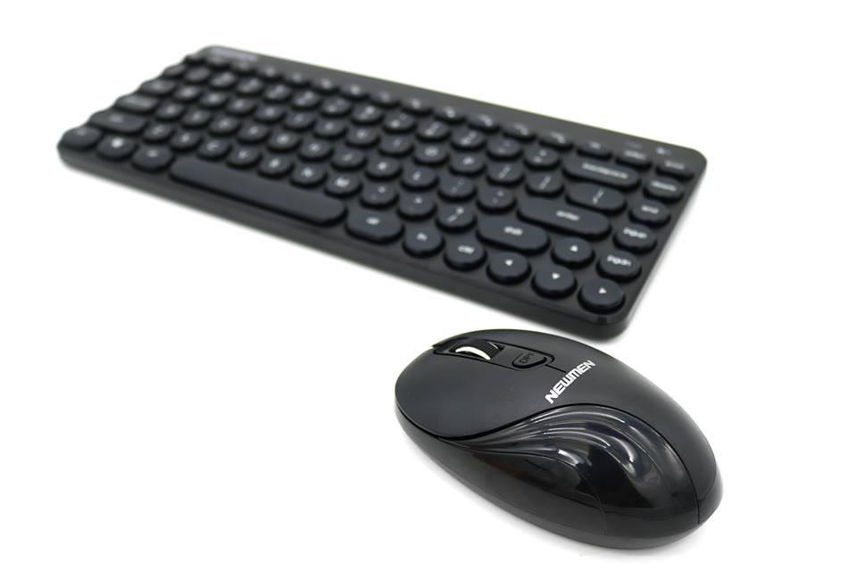Combo phím và chuột không dây siêu đáng yêu NEWMEN K928 Black _Hàng chính hãng