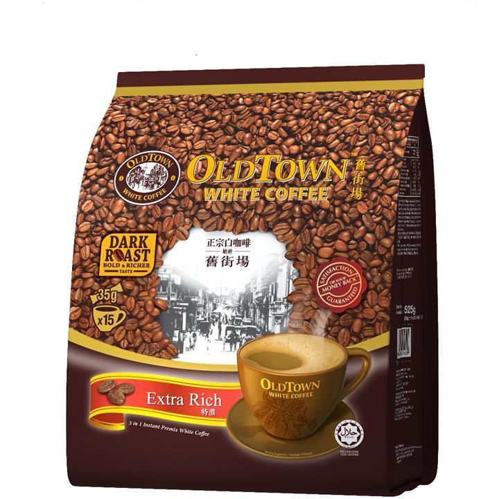 Cà phê trắng Oldtown White Coffee 3 in 1 Extrarich - Nhiều cà phê