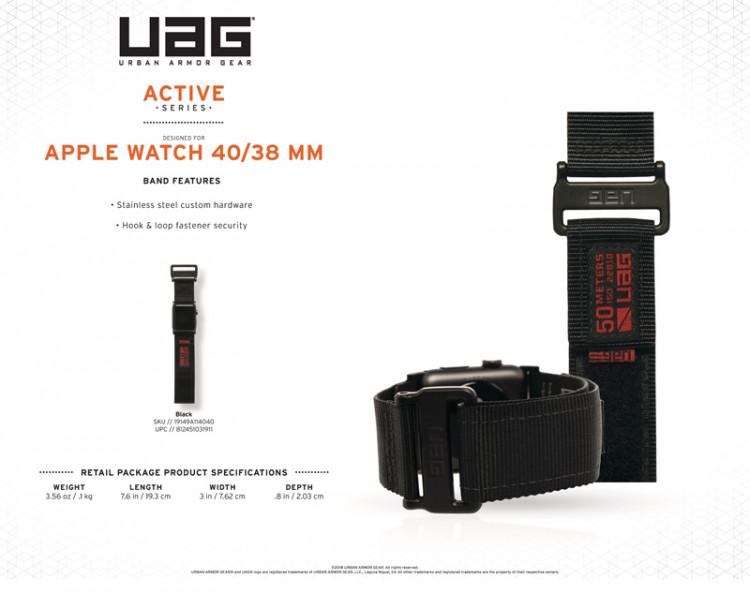 Dåy đeo Apple Watch 40mm & 38mm UAG Active