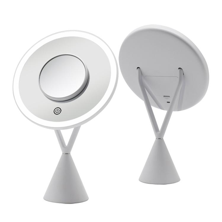 Gương trang điểm đặt bàn tròn có đèn led RM282-SL