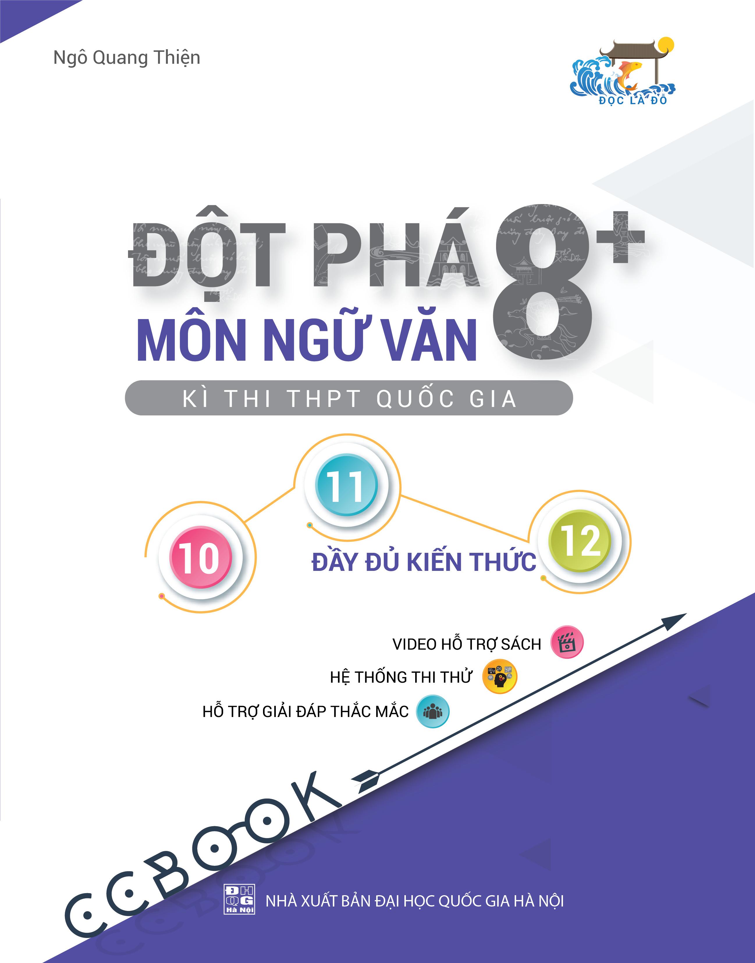 Combo sách đột phá 8+ thi THPT quốc gia khối C03: Toán - Văn - Sử