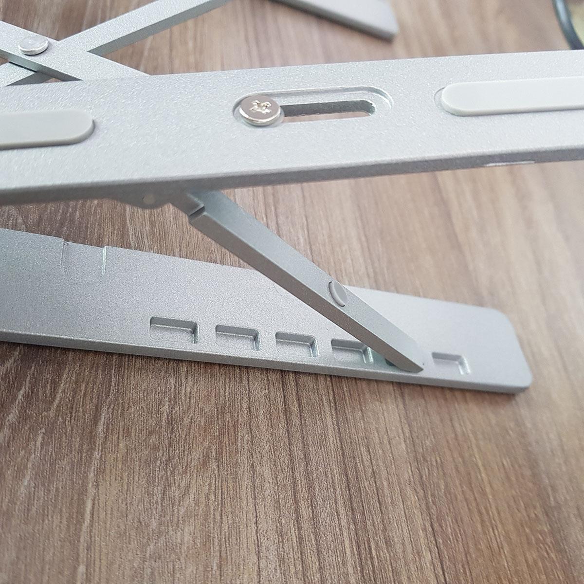 Giá đỡ nhôm LS501 cho laptop, macbook, surface với 2 thanh chịu lực