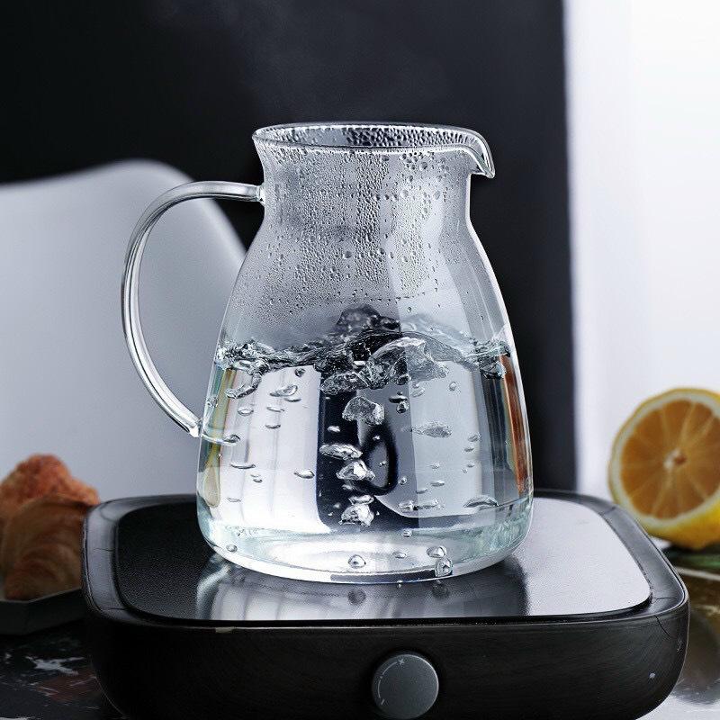 Bình thủy tinh đựng nước uống crystan chịu nhiệt cao cấp  ( Giao ngẫu nhiên )- ANTH469