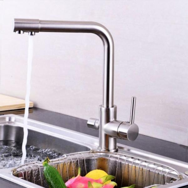 Vòi rửa bát ba đường nước inox sus304 không hoen gỉ
