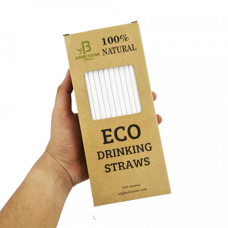 Ống Hút Giấy - Hộp 100 Ống ( Paper Straw )
