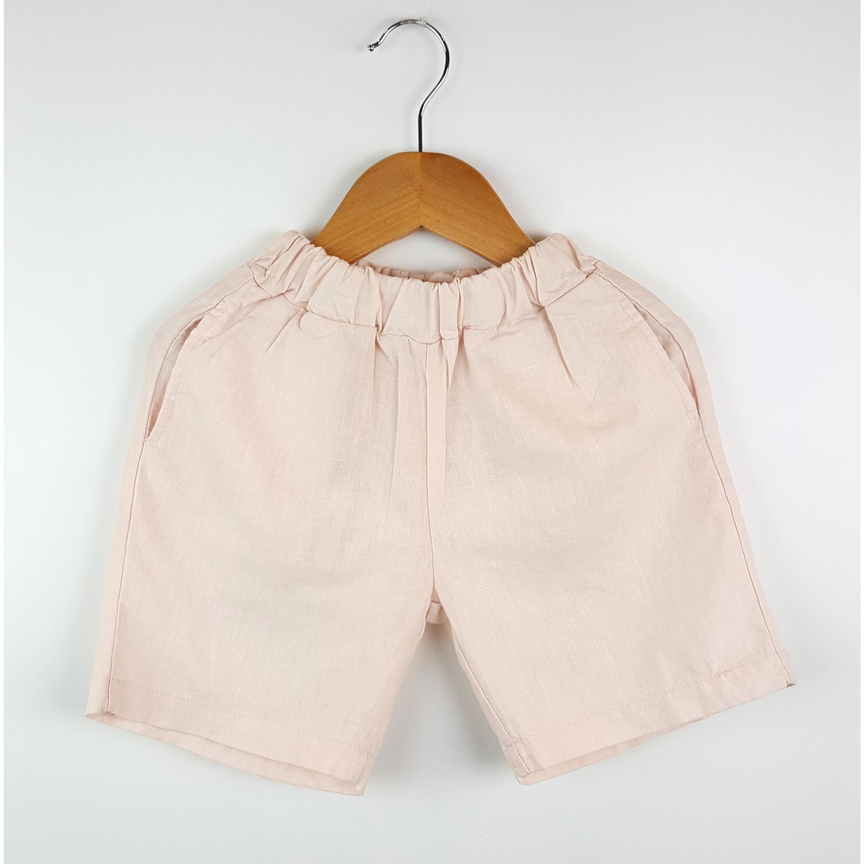 Quần Dressy Short Trẻ Em - Nhập Khẩu Hàn Quốc - Hồng Nhạt - XS
