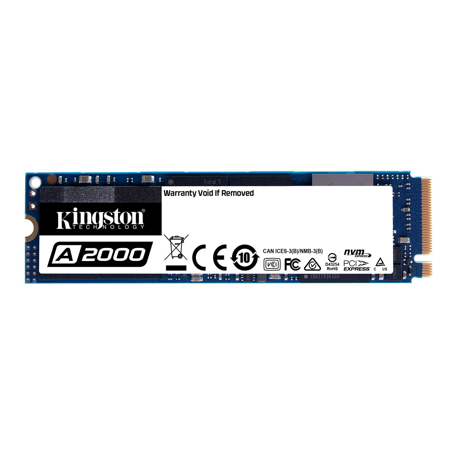 Ổ cứng SSD Kingston A2000 NVMe PCIe Gen 3.0 x4 250G - Hàng Chính Hãng