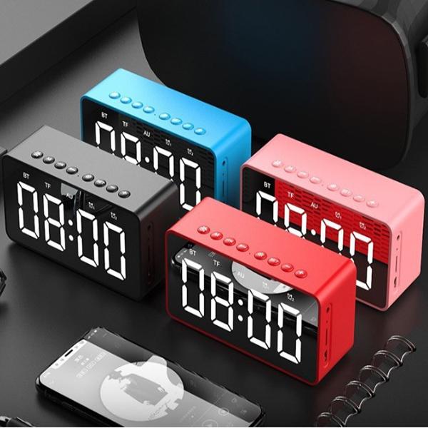 Loa bluetooth âm thanh chất lượng cao, có đồng hồ báo thức mặt gương