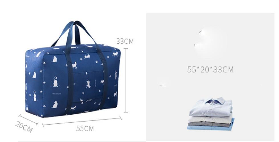 Set 3 túi đựng chăn màn quần áo chống thấm - màu ngẫu nhiên