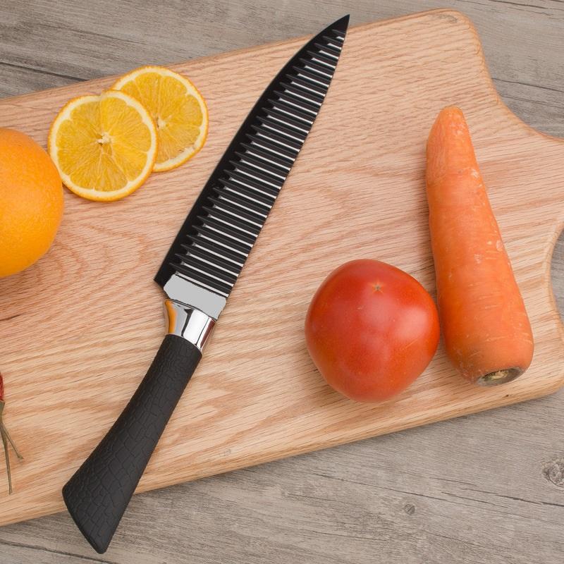 Bộ dao 6 món hình sọc tiện lợi đẹp độc lạ giúp nấu ăn trở nên giản đơn- hoặc có thể làm quà tặng vào các dịp đặc biệt- FULL BOX