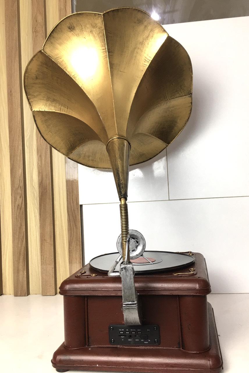 Máy phát nhạc loa kèn đồng ( nghe NHẠC , BLUTOOTH, THẺ NHỚ - FM ) MẪU TO - MÀU ĐỒNG