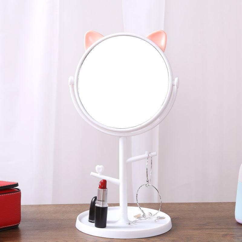 Gương Tai Mèo Để Bàn Trang Điểm Xoay 1 Mặt Hàn Quốc