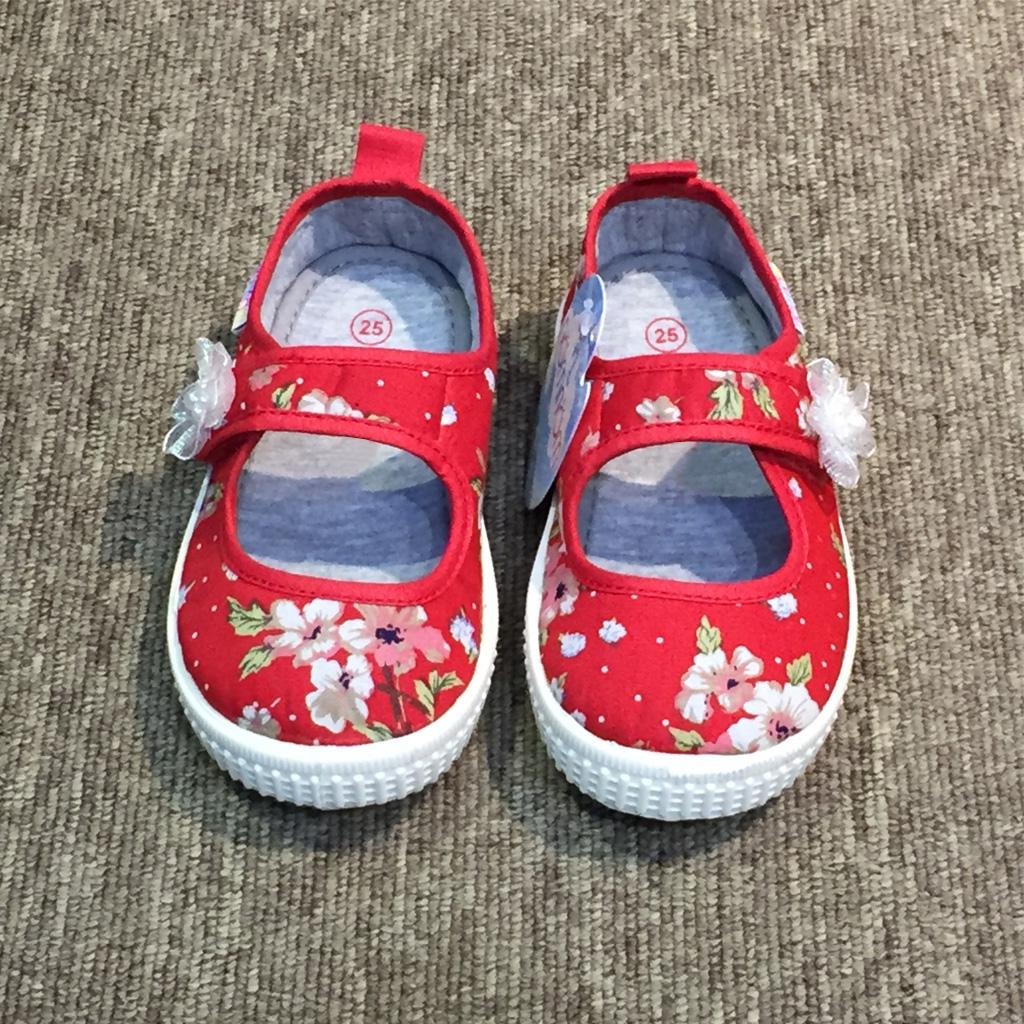 Giày búp bê bé gái cao cấp quai dán đính ngọc siêu mềm êm chuẩn xuất khẩu EU Sr7