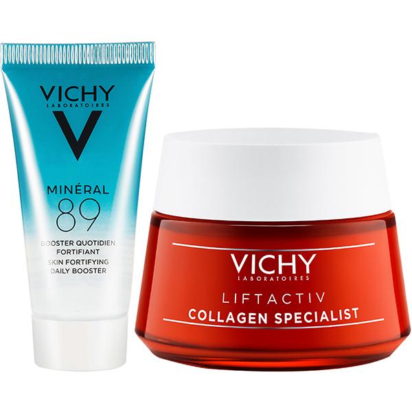 Bộ Kem Dưỡng Collagen Chuyên Biệt Hỗ Trợ Săn Chắc Da, Ngăn Ngừa Lão Hóa Vichy Liftactiv Collagen Specialist
