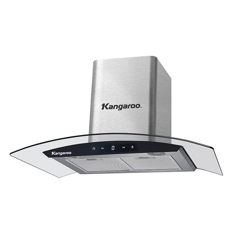 Máy Hút Mùi Kính Cong Kangaroo KG527 Size 70cm - Hàng chính hãng
