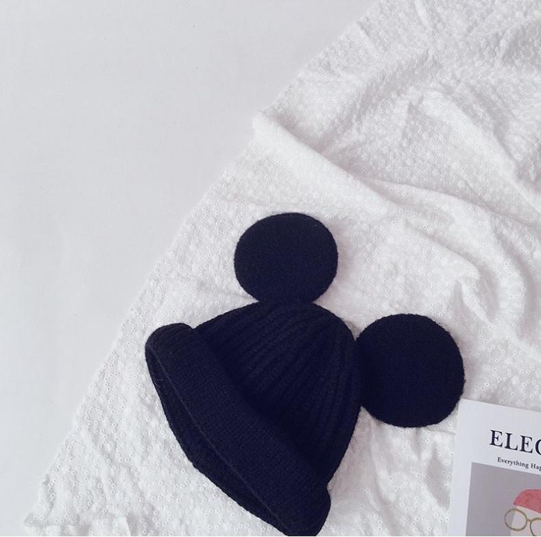 Mũ len, nón len tai mickey dạ lớn cho bé (1-4y), đáng yêu cho bé trai bé gái