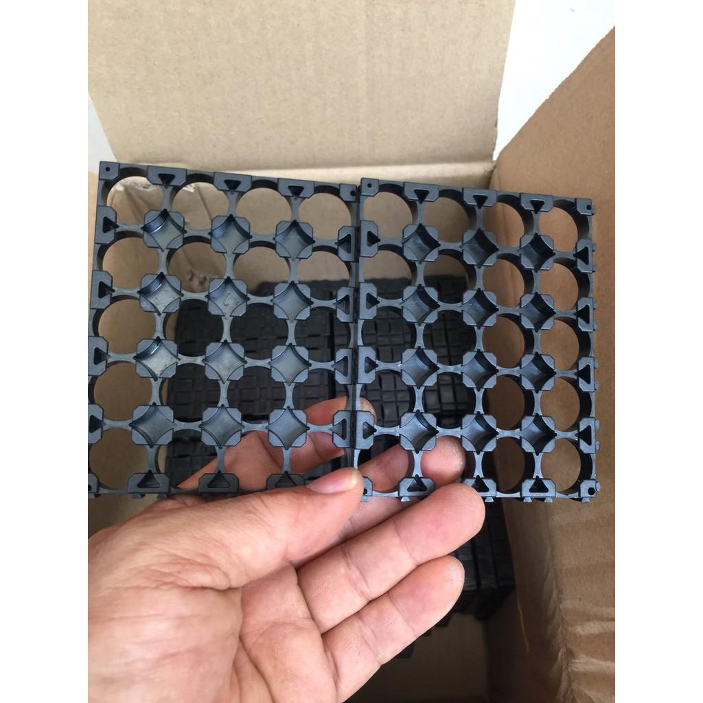 Khung nhựa giữ pin 4x5p 18650