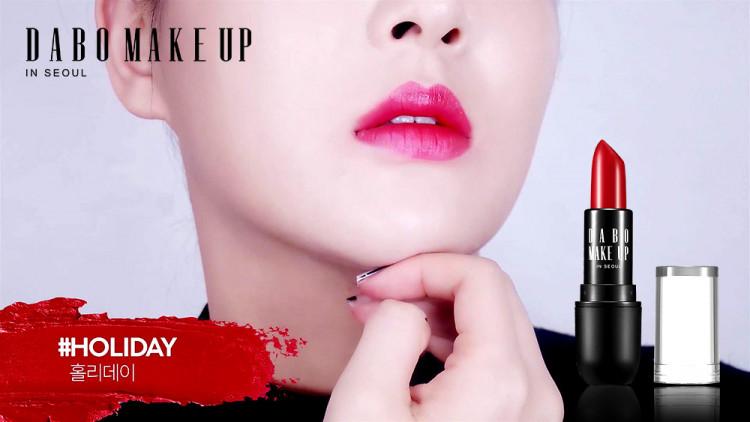 Son thỏi siêu lì nịnh môi Dabo Make Up Real RouGe Matte Hàn Quốc No.114 (Holiday) + Móc khoá 3