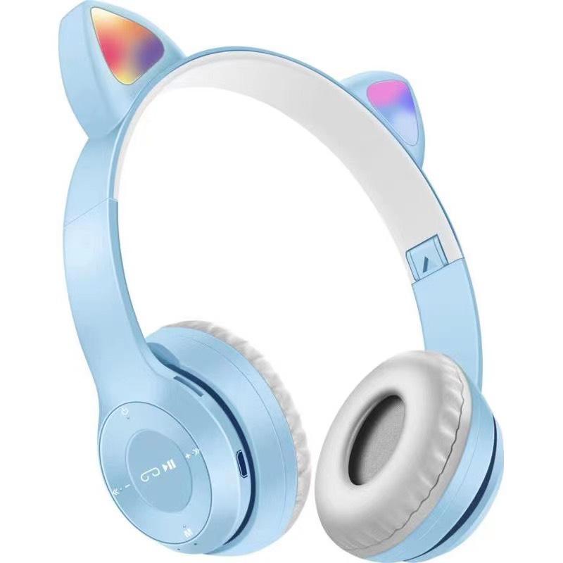Tai Nghe Mèo Bluetooth Chụp Tai, Có Đèn LED Headphone - Tai Mèo Bluetooth Không Dây Dễ Thương Có Mic Hỗ Trợ Điều Chỉnh Âm Lượng - Tai Nghe Bluetooth Không Dây Chụp Tai - HP000028