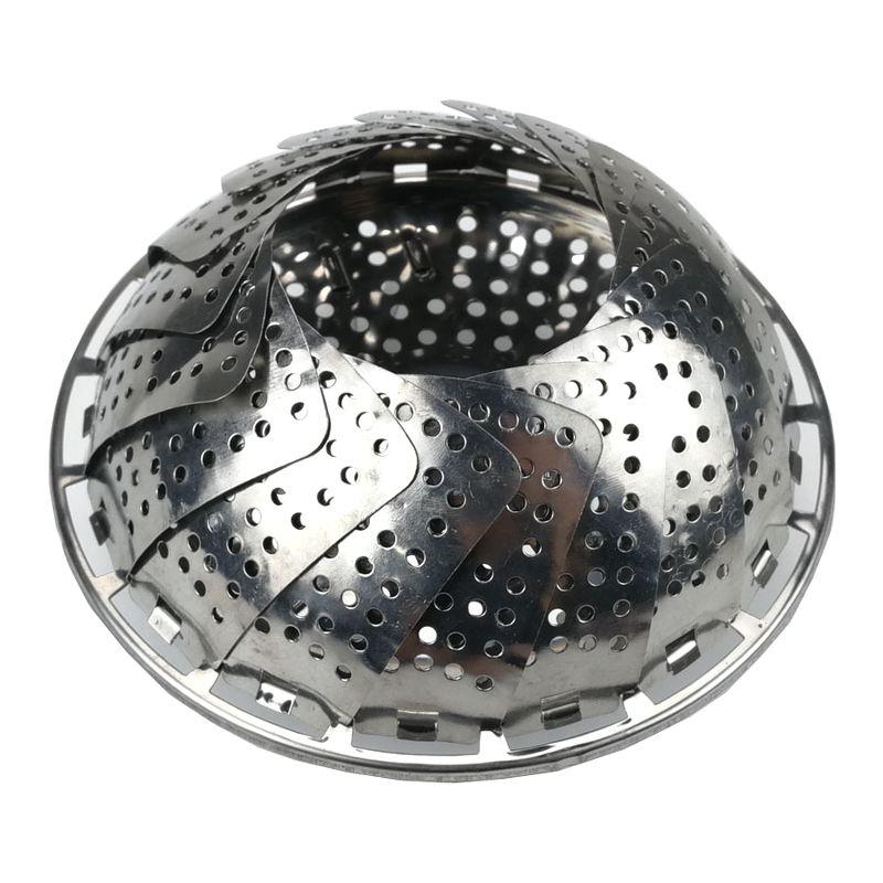 Giá inox gấp gọn GL0051. Tặng kẹp INOX304 đa năng. Sử dụng nấu xôi, hấp cách thủy đa năng.