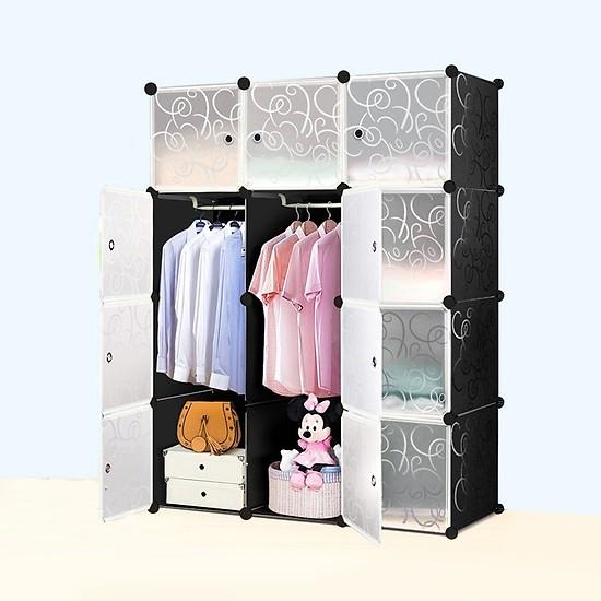 Tủ đựng quần áo ghép đa năng 12 ô – THDMHT120602