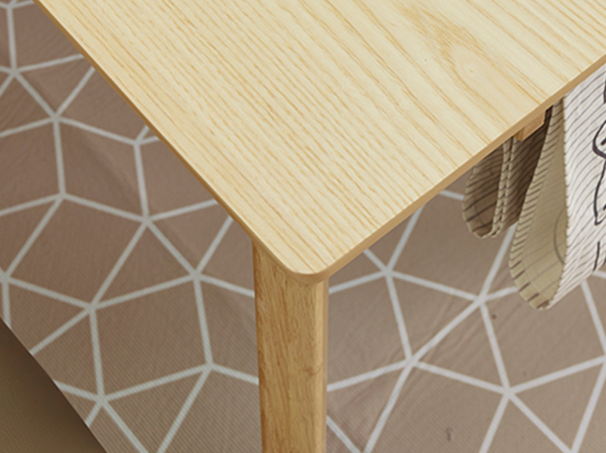 Bộ bàn ghế Hàn Quốc  VIVA bàn vuông 2 ghế (Natural )