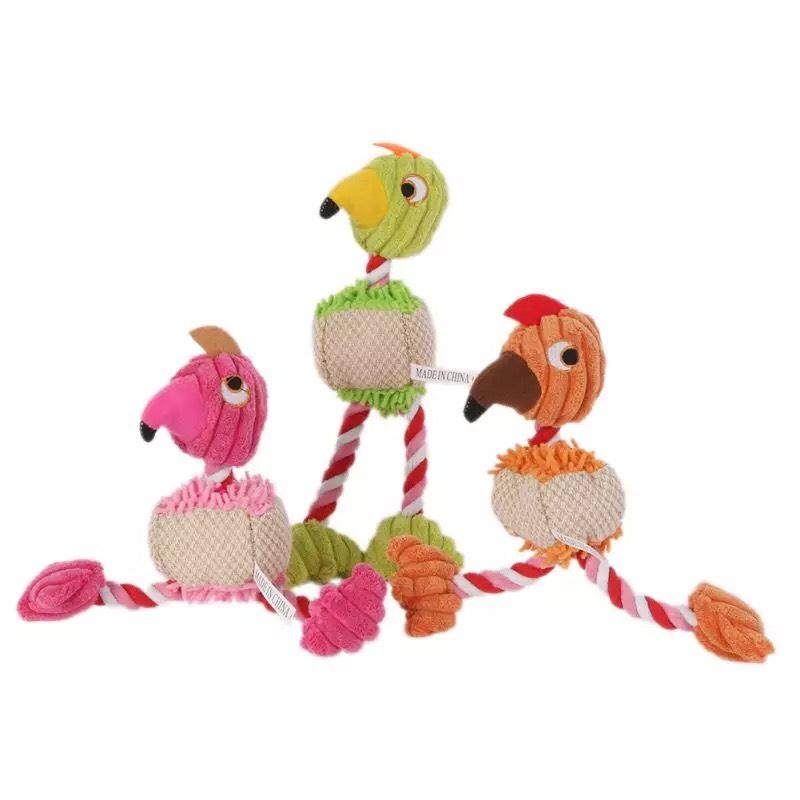 Đồ chơi cho chó mèo hình những chú chim ngộ nghĩnh phát ra âm thanh khi thú cưng cắn gặm, kích thước 25cm - giao màu ngẫu nhiên - CK20