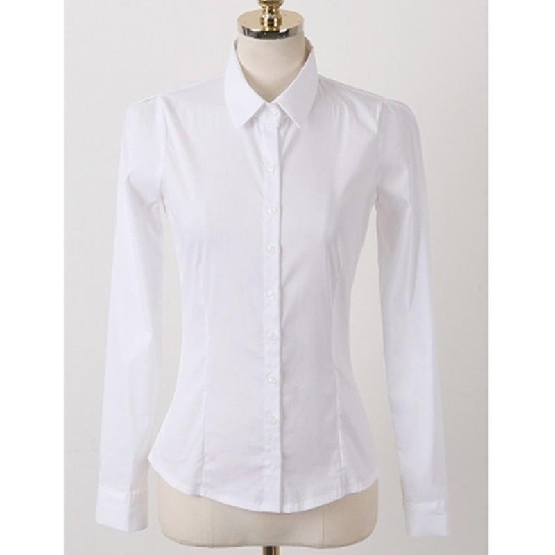 Áo sơ mi trắng dài tay khong nhăn nhàu cho nữ