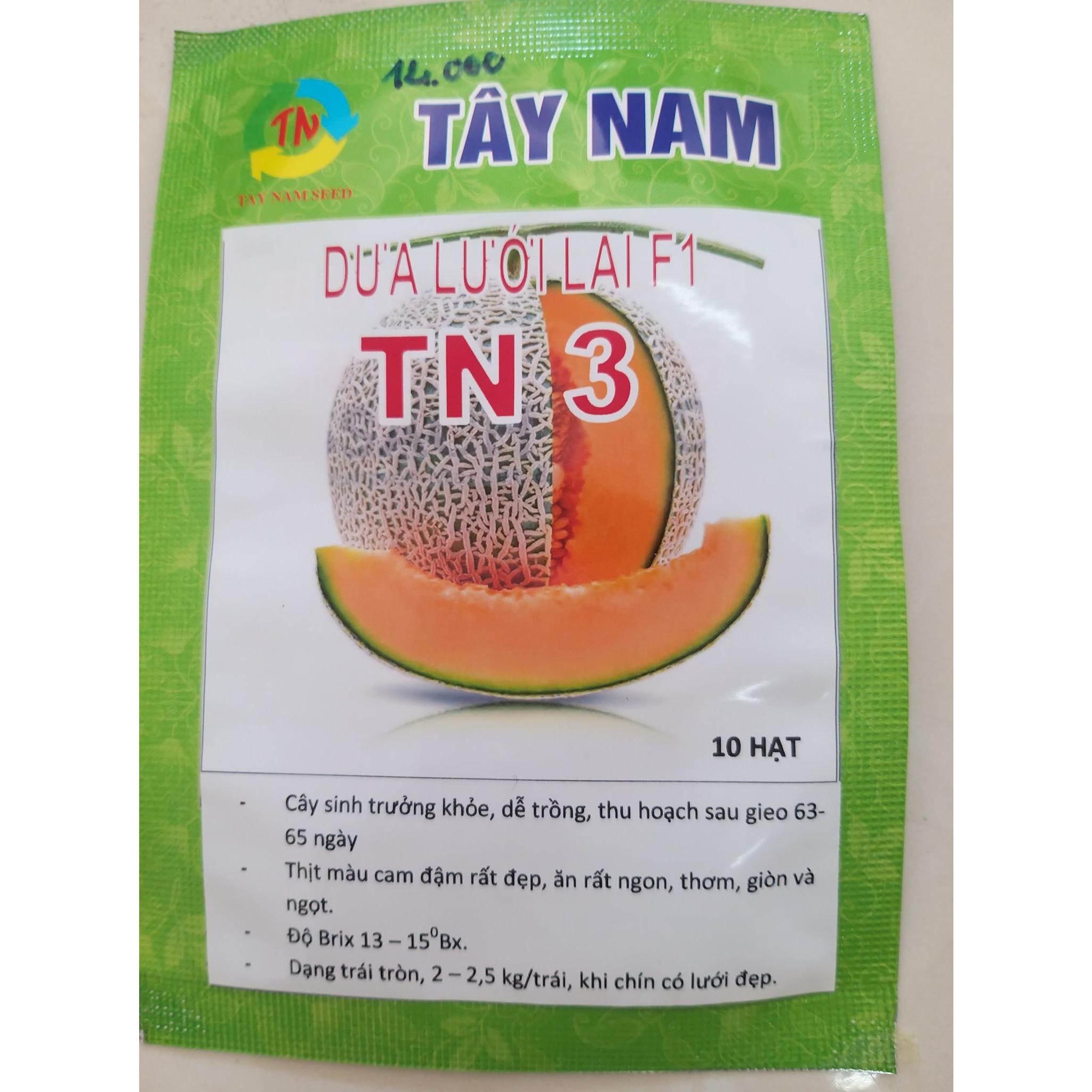 Hạt giống dưa lưới lai F1 TN 3 Tây Nam gói 10 hạt