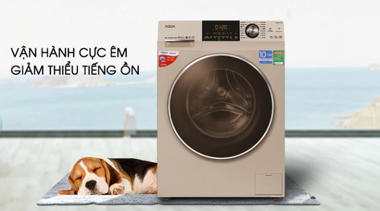 Máy giặt Aqua Inverter 8.5 kg AQD-DD850A (N2) - vận hành êm ái