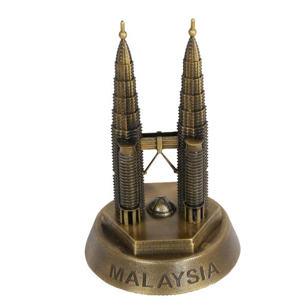 Mô hình tháp đôi Petronas cao 18.5 cm (Màu Vàng Rêu)