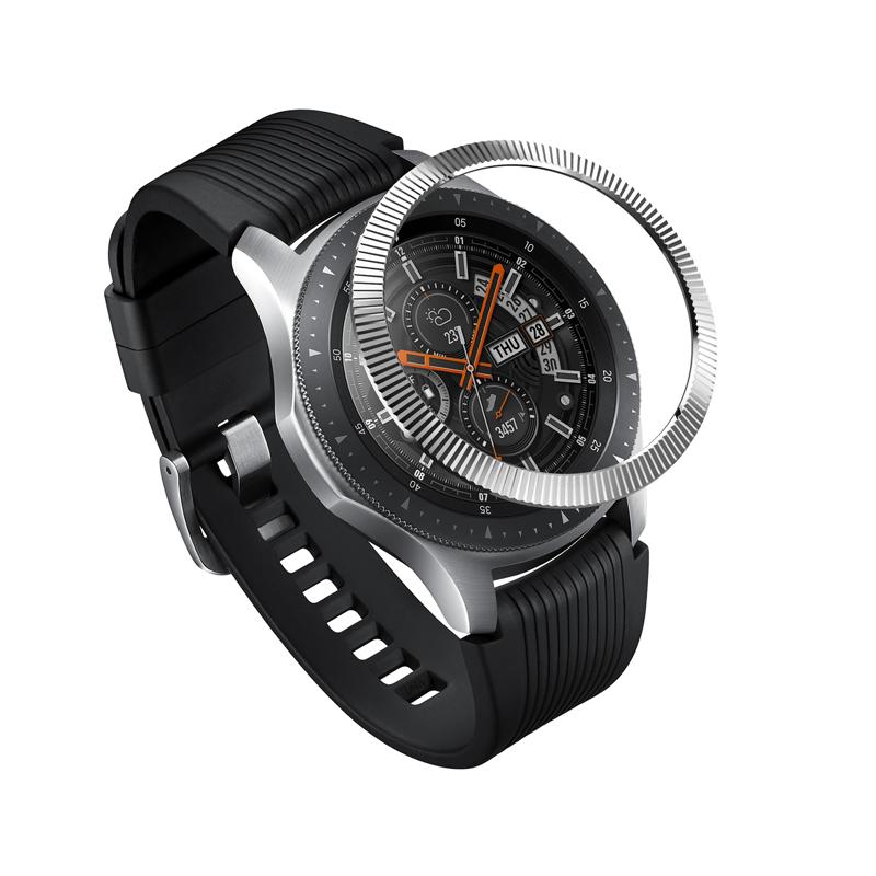 Viền Ringke Bezel Styling cho Samsung Galaxy Watch 46mm / Gear S3 Frontier & Classic - Hàng chính hãng - Satin Silver
