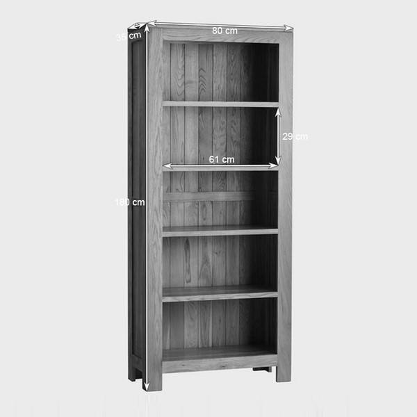 Tủ Sách Cao Oakdale Gỗ Sồi Ibie OSBTDALO (80 x 35 cm)