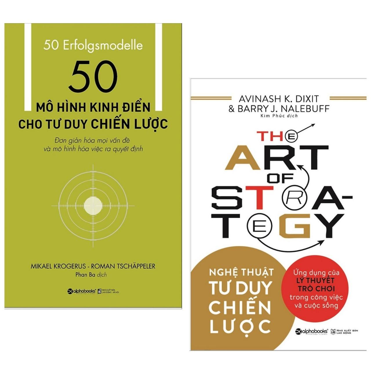 Combo sách kinh tế hay  50 mô hình kinh điển cho tư duy chiến lược   Nghệ thuật tư duy chiến - Tặng kèm postcard GREEN LIFE
