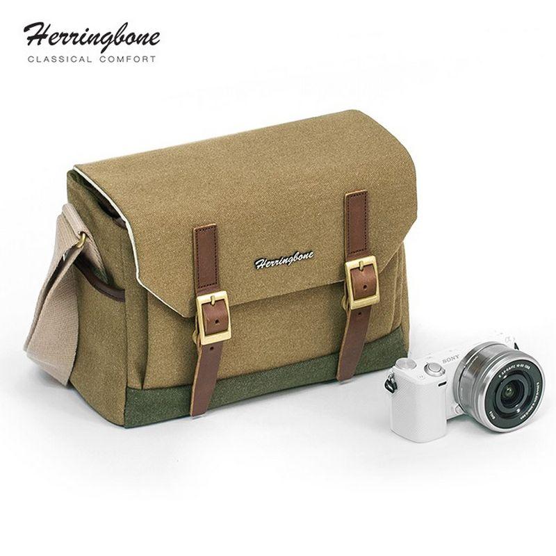 Túi máy ảnh Herringbone Postman Small - Khaki color - Hàng chính hãng