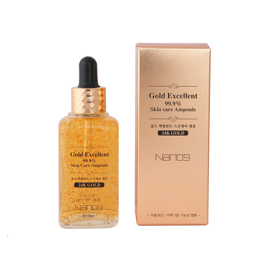 Serum Tinh Chất Vàng 24k NANO9 Gold Excellent 99% Skin Care Ampoule (50ml)