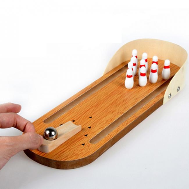 Bộ đồ chơi bowling bằng gỗ mini