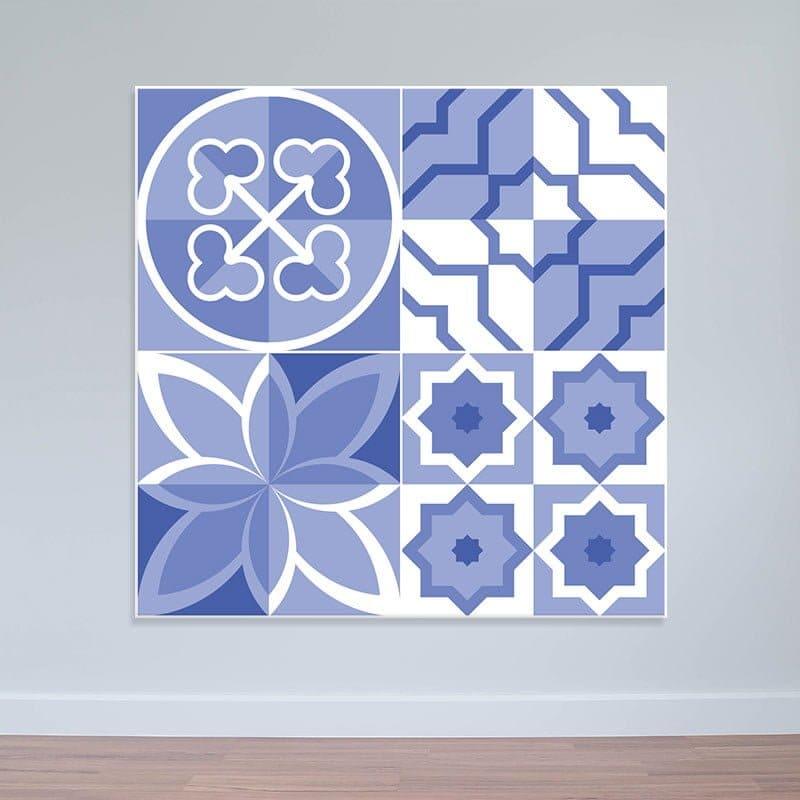 Decal dán tường hoa văn màu tím | Decal nhám WD164