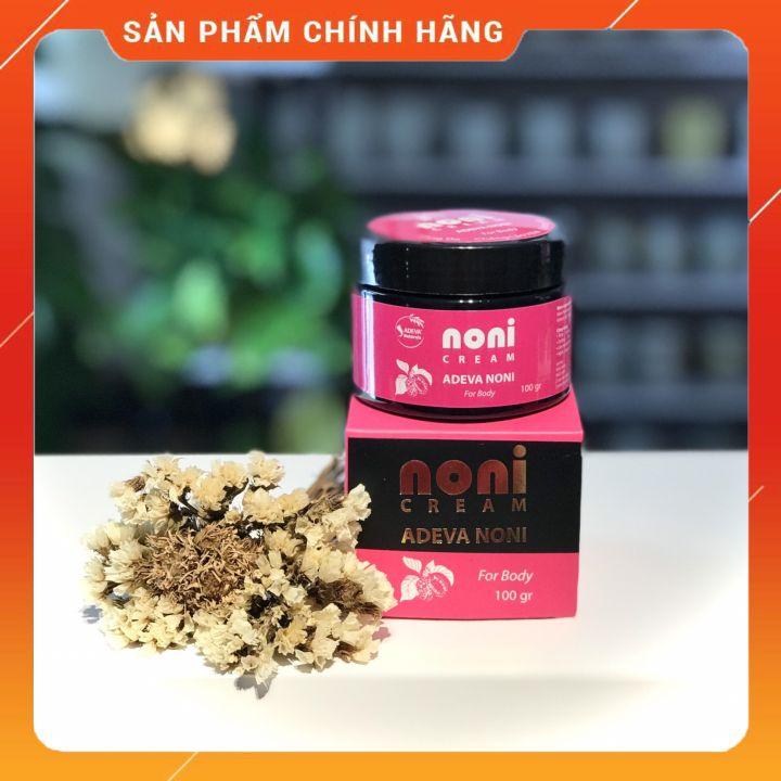 Kem dưỡng ẩm toàn thân Trái nhàu - Dưỡng ẩm từ thiên nhiên cho da căng mịn 100 gr - Adeva Noni