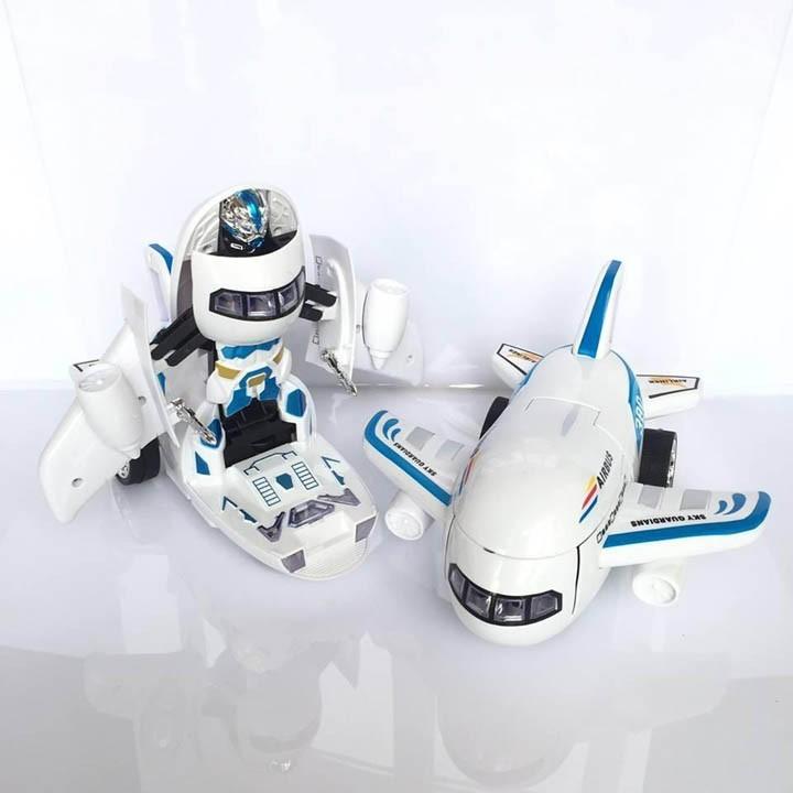 Robot Máy Bay Biến Hình Và Phát Nhạc Cho Bé