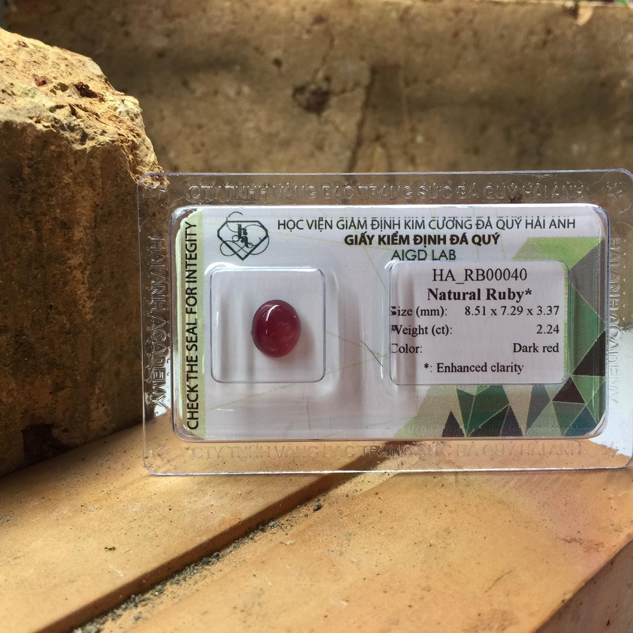 Viên đá Ruby thiên nhiên_HA-RB00040