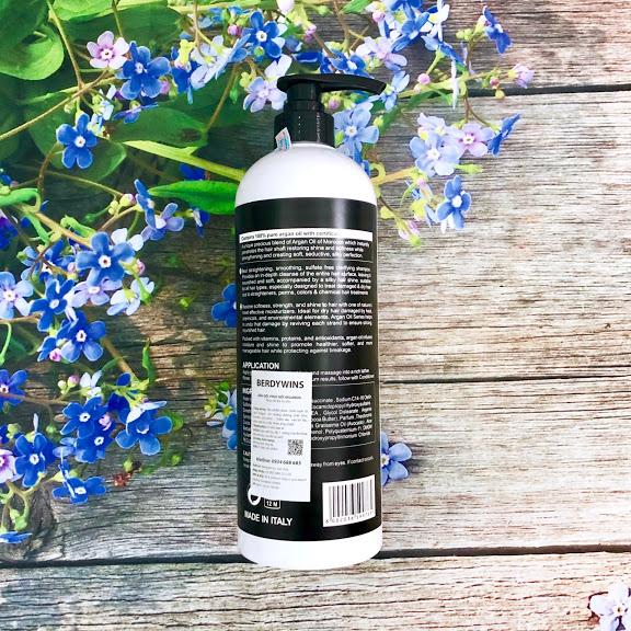 Dầu gội BERDYWINS Argan Oil siêu mượt phục hồi tóc hư tổn 1000ML