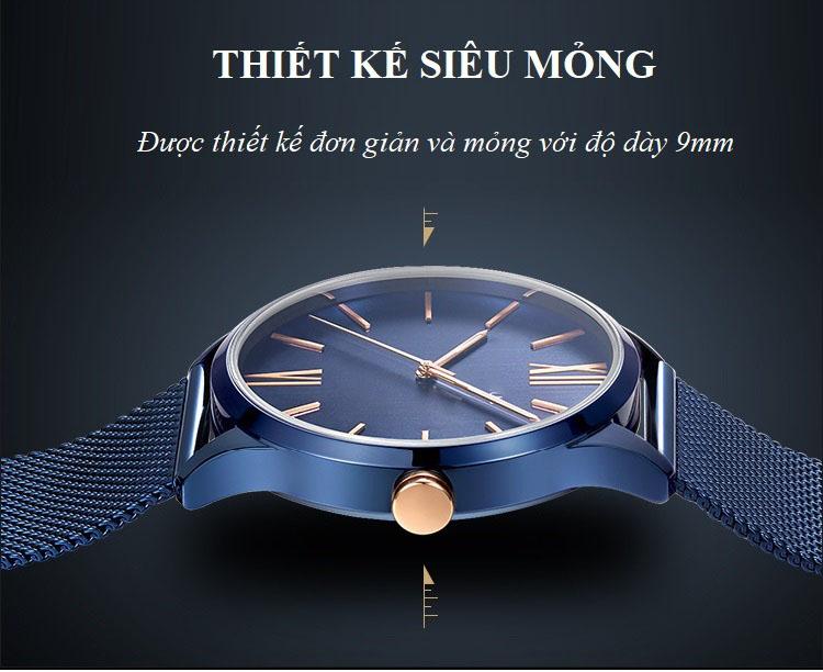 Đồng Hồ Nam Thời Trang Cao Cấp 018G, Dây Thép Không Gỉ Siêu Bền, Mặt Tròn - Chống Nước 3ATM
