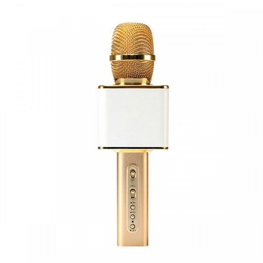 Mic Karaoke kiêm loa Bluetooth SD 08 Kèm khe cắm thẻ nhớ và USB