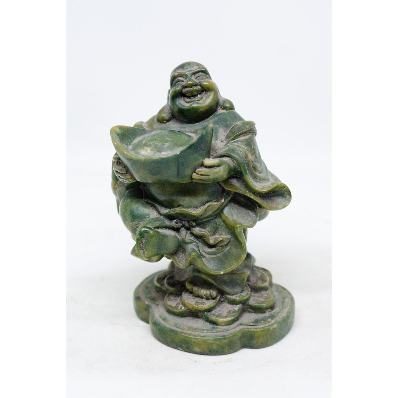 Tượng Phật Di Lặc ôm tiền vàng bằng đá xanh với nhiều lựa chọn màu sắc