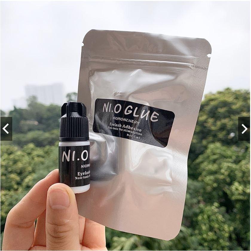 Keo nối mi không cay Nio glue monchery (5ml), khô chậm dành cho người mới học nối, có thể tự nối được