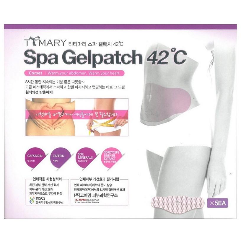 Hộp 5 Miếng dán tan mỡ bụng Spa Gelpatch 42°C - Hàn Quốc