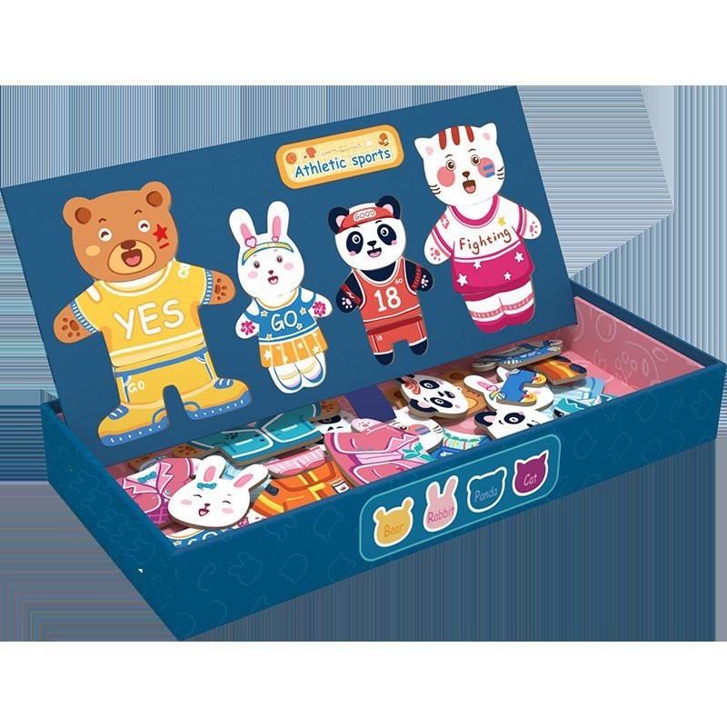 Bộ đồ chơi ghép hình thiết kế thời trang thông minh ghép hình nam châm độc đáo với 5 chủ đề giúp bé phát triển tư duy