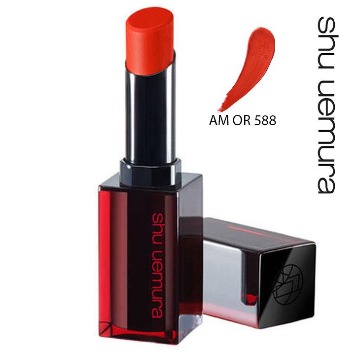 Son Shu Uemura Rouge Unlimited Amplified Matte AM OR 588 Màu Đỏ Cam Cháy (Chất Son Lì Có Dưỡng)
